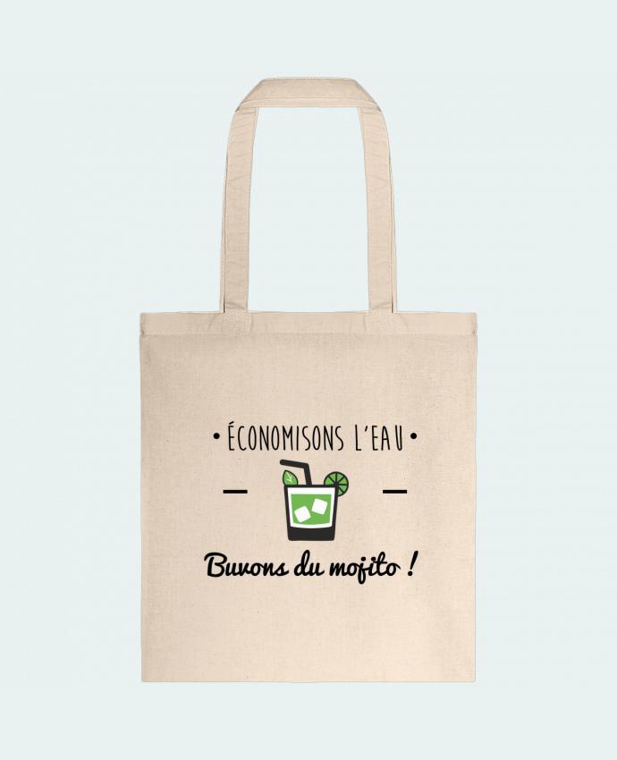 Sac en Toile Coton Économisons l'eau, buvons du mojito ! Humour , alcool , citations par Benichan