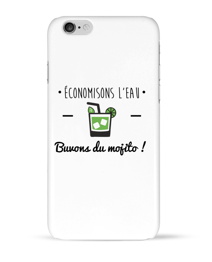 Coque 3D Iphone 6 Économisons l'eau, buvons du mojito ! Humour , alcool , citations par Benichan