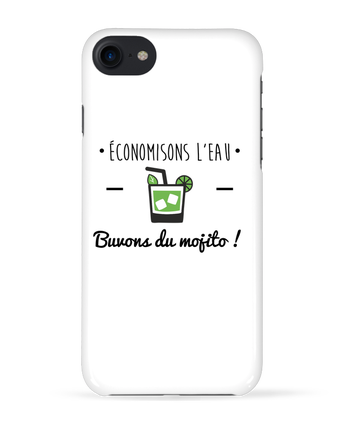 Coque 3D Iphone 7 Économisons l'eau, buvons du mojito ! Humour , alcool , citations de Benichan