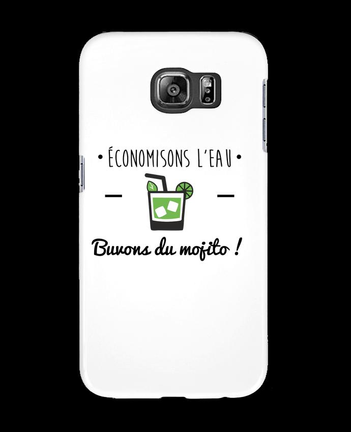 Coque 3D Samsung Galaxy S6 Économisons l'eau, buvons du mojito ! Humour , alcool , citations - Benicha