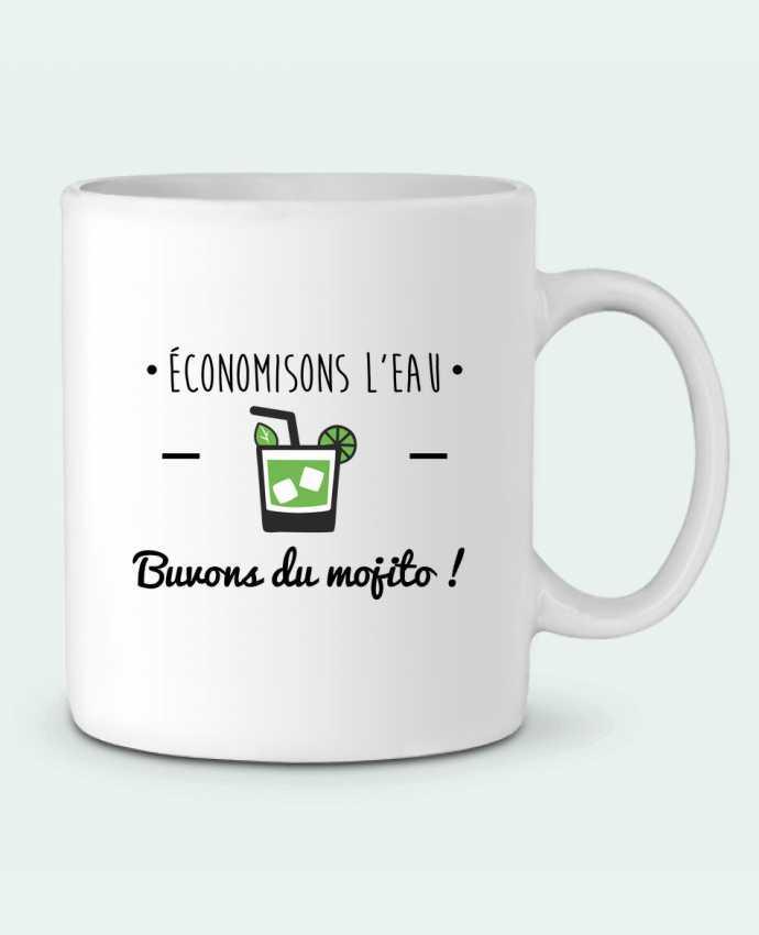 Mug en Céramique Économisons l'eau, buvons du mojito ! Humour , alcool , citations par Benichan