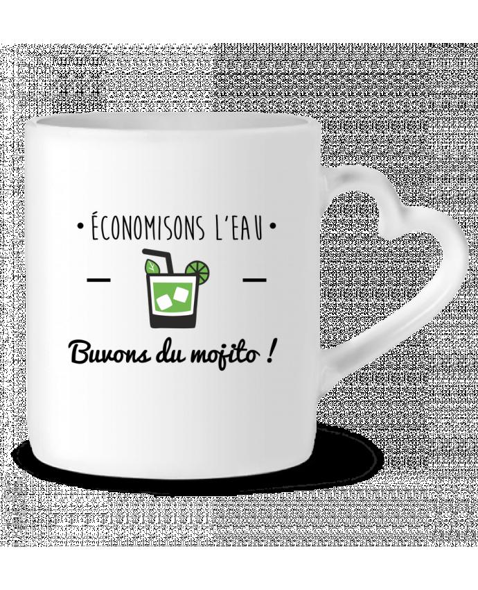 Mug coeur Économisons l'eau, buvons du mojito ! Humour , alcool , citations par Benichan