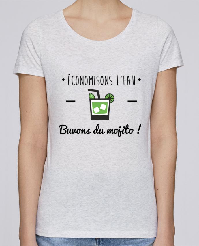 T-shirt Femme Stella Loves Économisons l'eau, buvons du mojito ! Humour , alcool , citations par Benichan