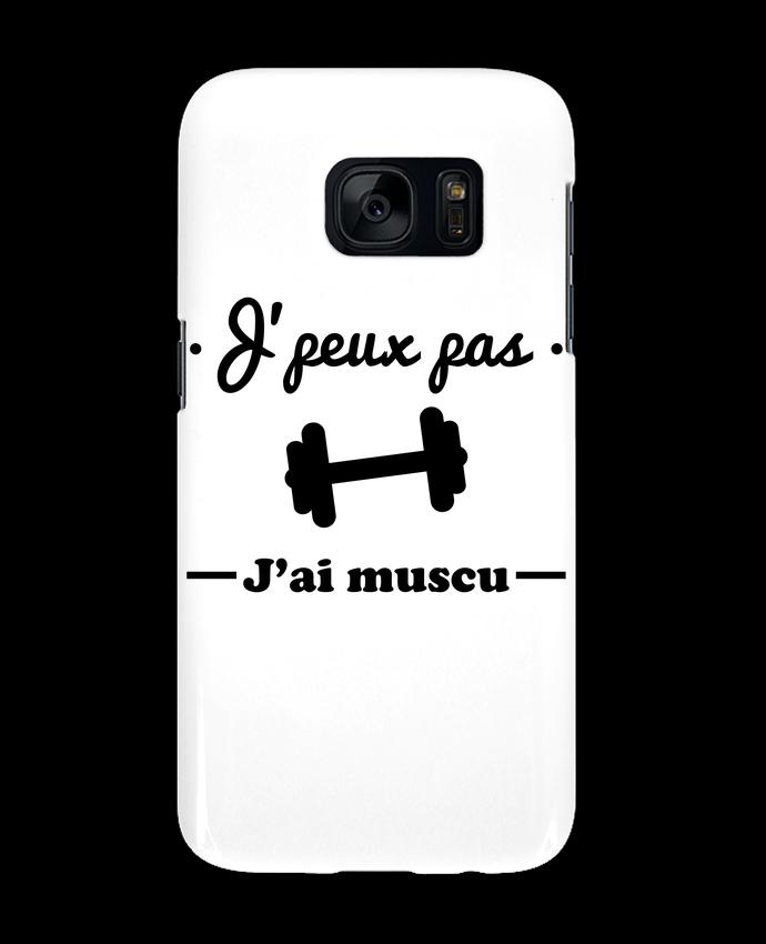 Coque 3D Samsung Galaxy S7 J'peux pas j'ai muscu, musculation par Benichan