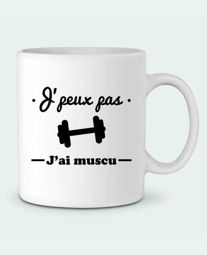 Mug  J'peux pas j'ai muscu, musculation par Benichan