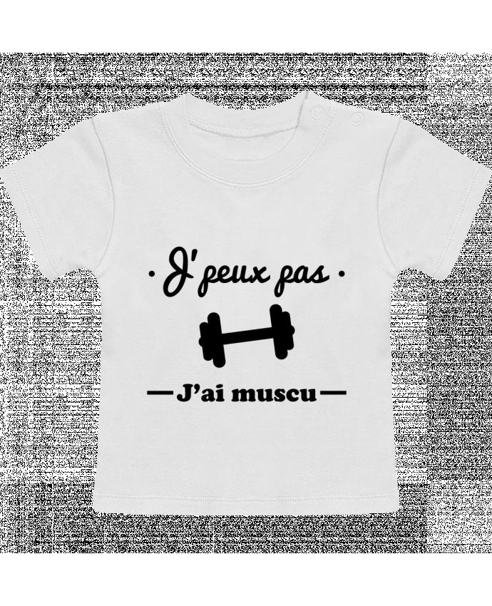 T-shirt bébé J'peux pas j'ai muscu, musculation manches courtes du designer Benichan