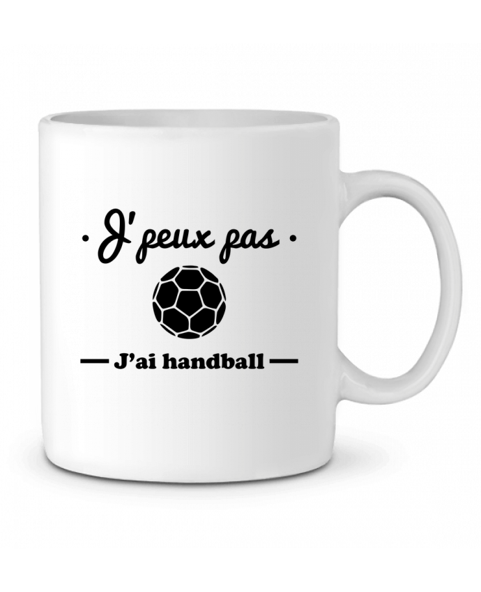 Mug en Céramique J'peux pas j'ai handball ,  tee shirt handball, hand par Benichan