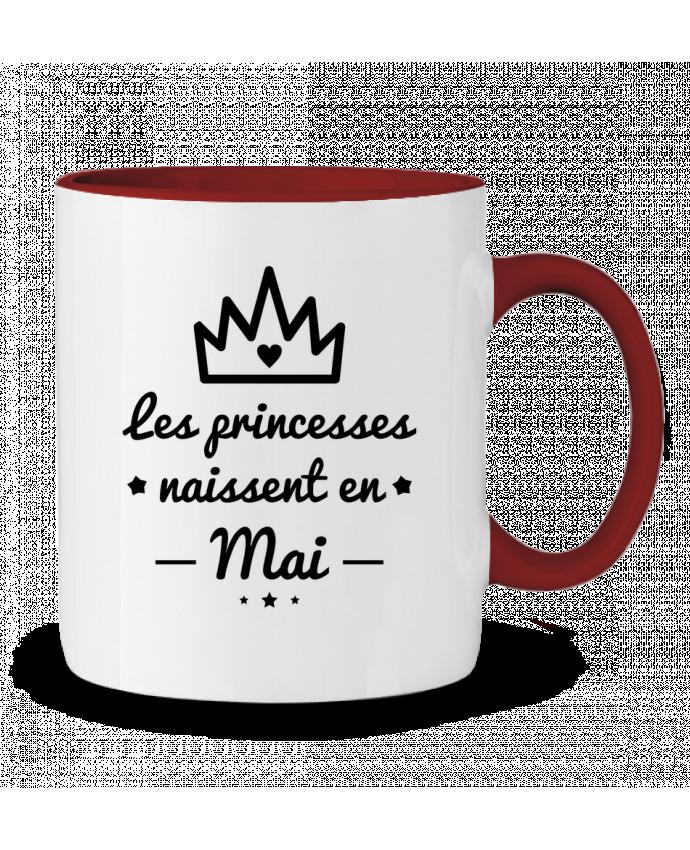 Mug en Céramique Bicolore Les princesses naissent en mai, princesse, cadeau d'anniversaire Benichan