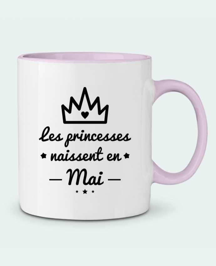 Mug bicolore Les princesses naissent en mai, princesse, cadeau d'anniversaire Benichan