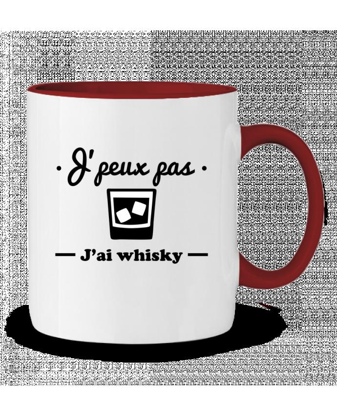 Mug en Céramique Bicolore J'peux pas j'ai whisky, humour,alcool,citations,drôle Benichan