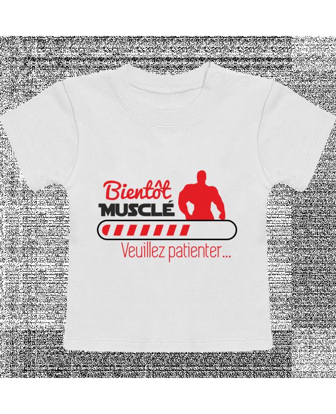 T-Shirt Bébé Manches Courtes Bientôt musclé, musculation, muscu, humour manches courtes du designer Benichan
