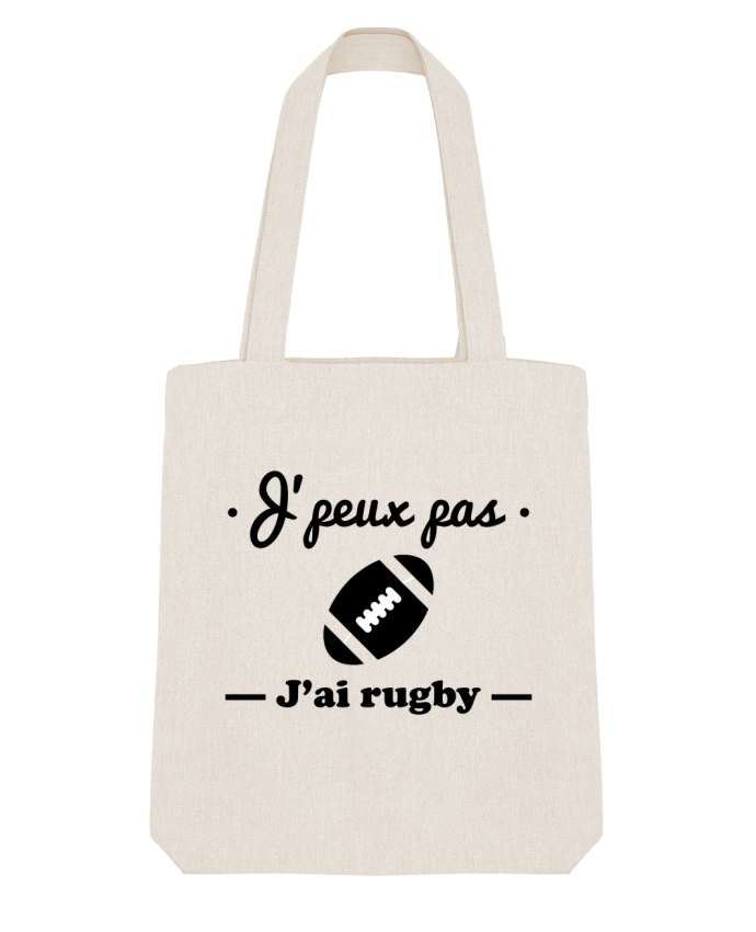 Tote Bag Stanley Stella J'peux pas j'ai rugby par Benichan