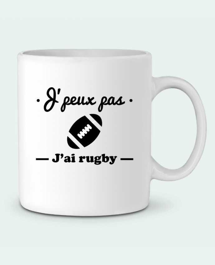 Mug en Céramique J'peux pas j'ai rugby par Benichan
