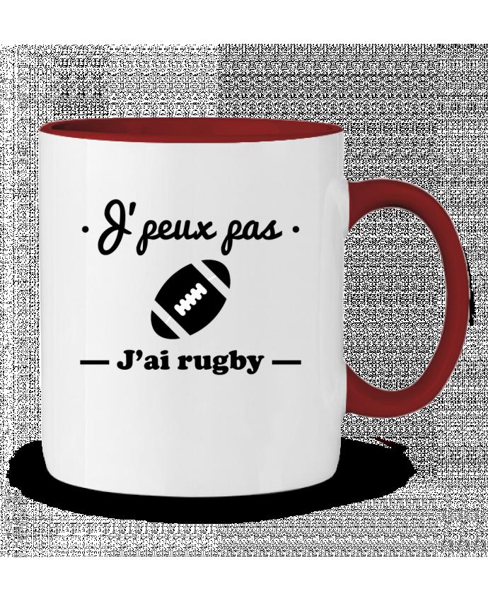 Mug en Céramique Bicolore J'peux pas j'ai rugby Benichan