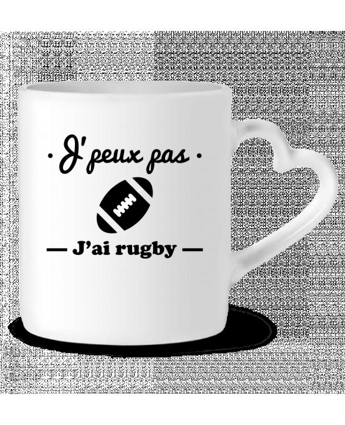 Mug Coeur J'peux pas j'ai rugby par Benichan