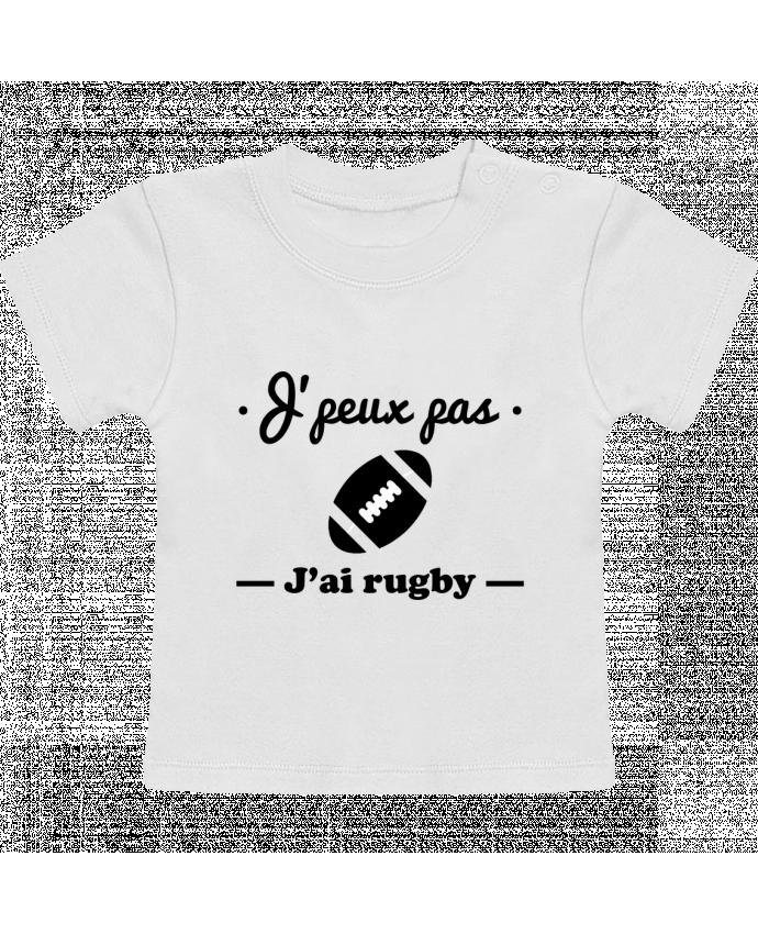 T-Shirt Bébé Manches Courtes J'peux pas j'ai rugby manches courtes du designer Benichan