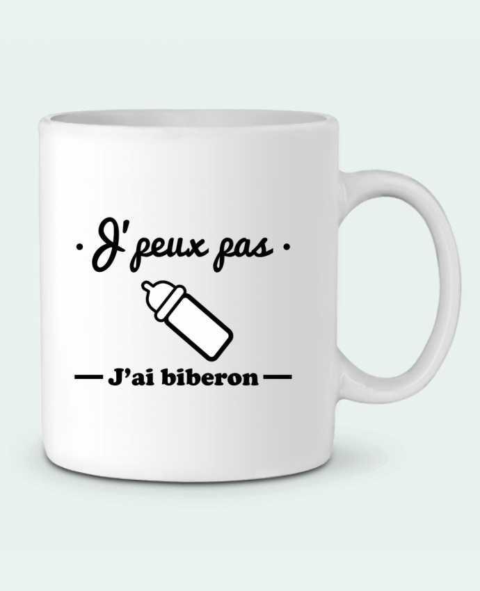 Mug en Céramique J'peux pas j'ai biberon , humour, bébé, cadeau de naissance par Benichan
