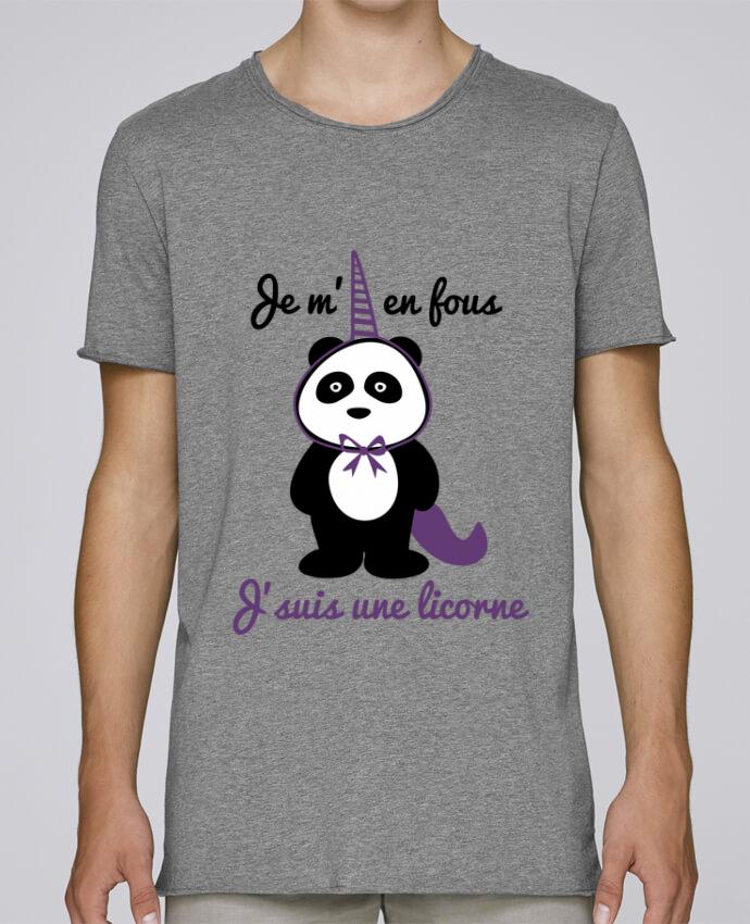 T-shirt Homme Oversized Stanley Skates Je m'en fous j'suis une licorne, panda par Benichan