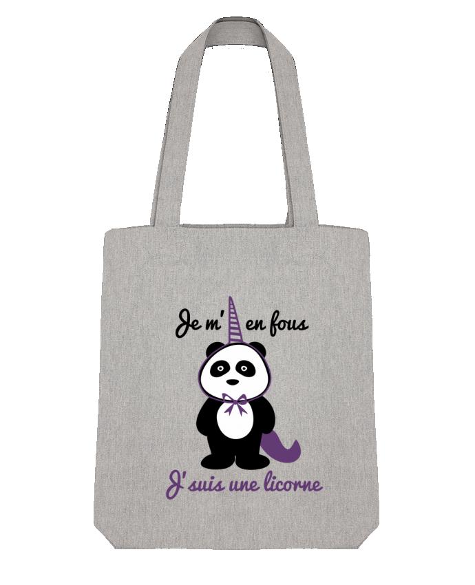 Tote Bag Stanley Stella Je m'en fous j'suis une licorne, panda par Benichan