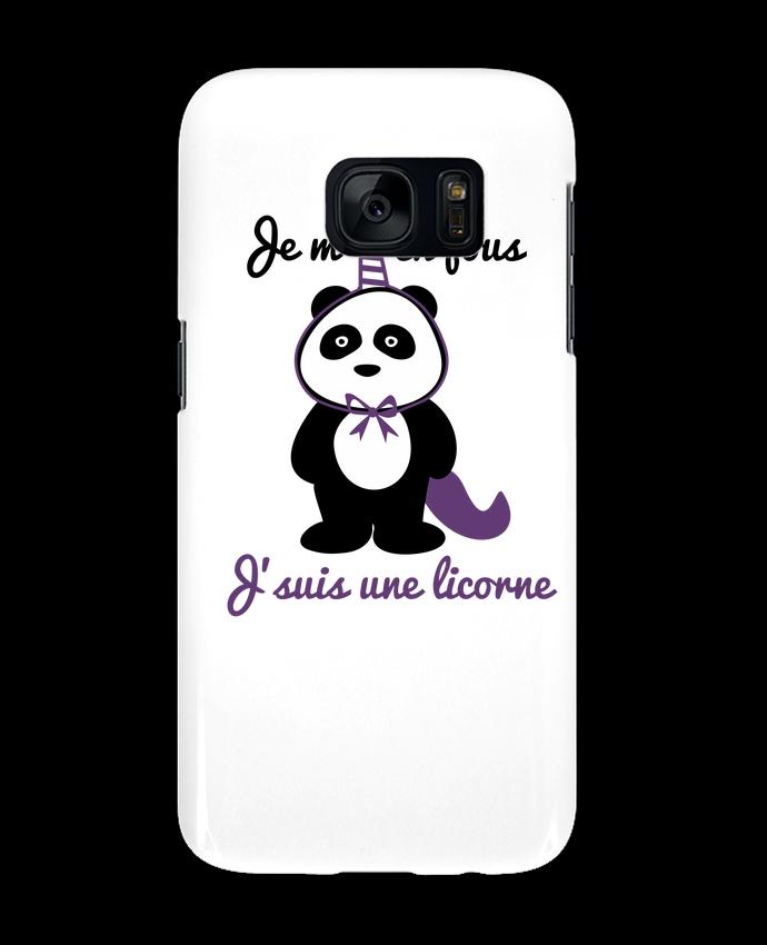 Coque 3D Samsung Galaxy S7 Je m'en fous j'suis une licorne, panda par Benichan
