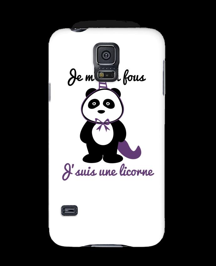 Coque 3D Samsung Galaxy S5 Je m'en fous j'suis une licorne, panda par Benichan