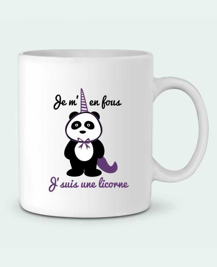 Mug  Je m'en fous j'suis une licorne, panda par Benichan