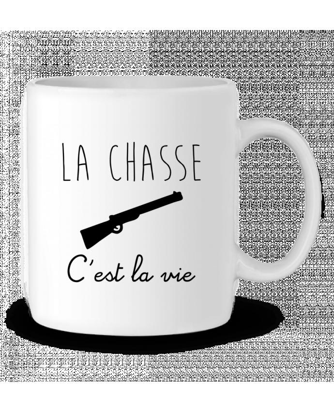 Mug en Céramique La chasse c'est la vie, chasseur par Benichan