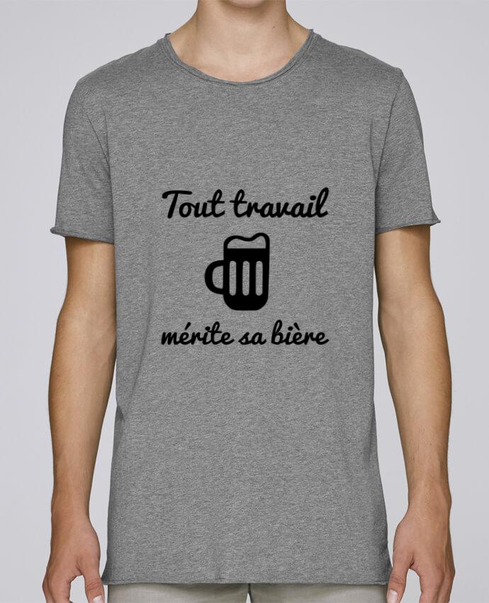 T-shirt Homme Oversized Stanley Skates Tout travail mérite sa bière, humour, citations par Benichan