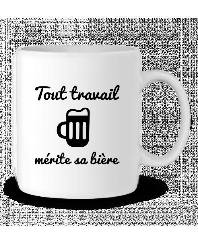 Mug en Céramique Tout travail mérite sa bière, humour, citations par Benichan