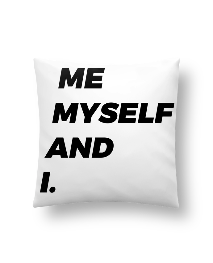 Coussin Synthétique Doux 41 x 41 cm me myself and i. par tunetoo