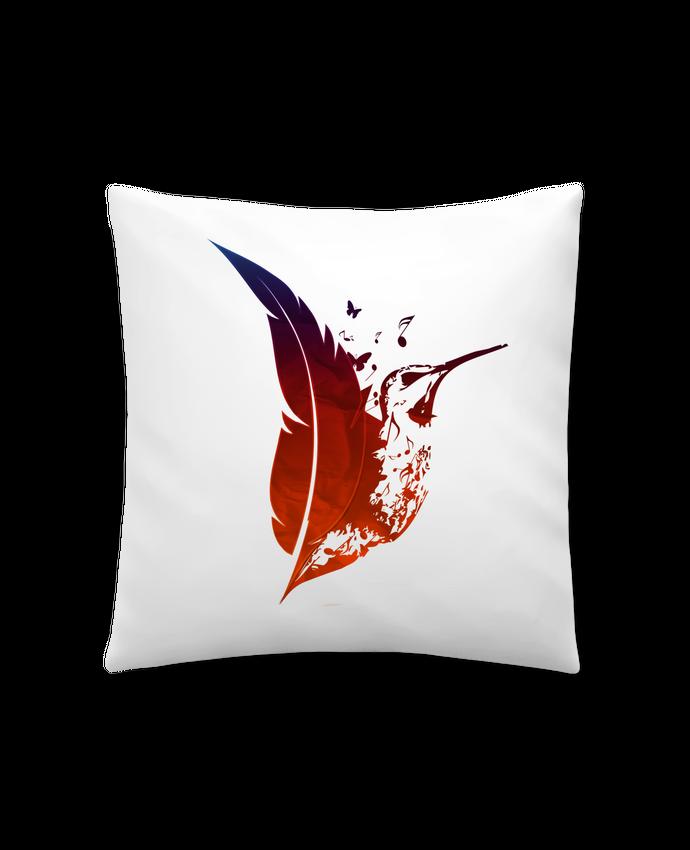 Coussin Synthétique Doux 41 x 41 cm plume colibri par Studiolupi