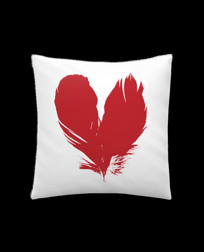 Coussin Synthétique Doux 41 x 41 cm coeur de plumes par Studiolupi