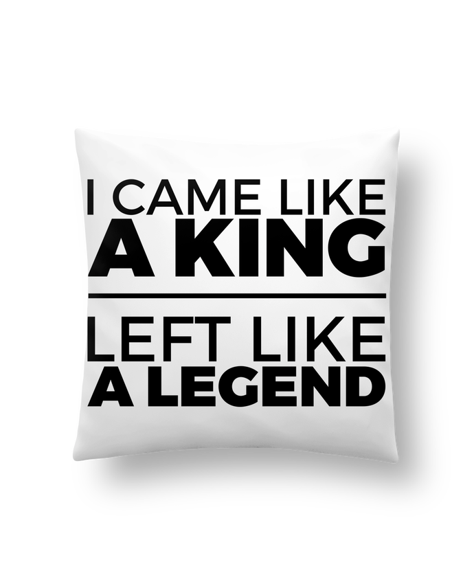 Coussin Synthétique Doux 41 x 41 cm I came like a king II par tunetoo