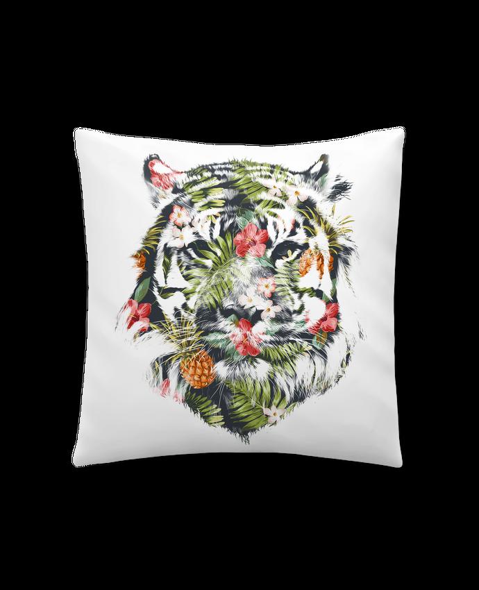 Coussin Synthétique Doux 41 x 41 cm Tropical tiger par robertfarkas