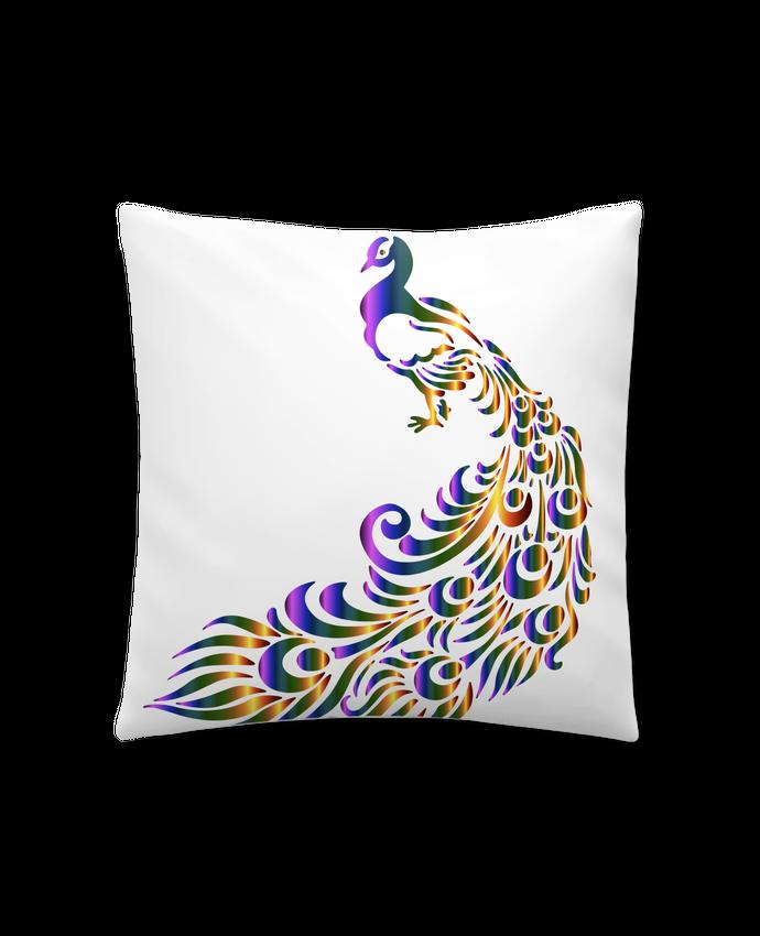 Coussin Synthétique Doux 41 x 41 cm Paon de Héra par Manuela de la Mora