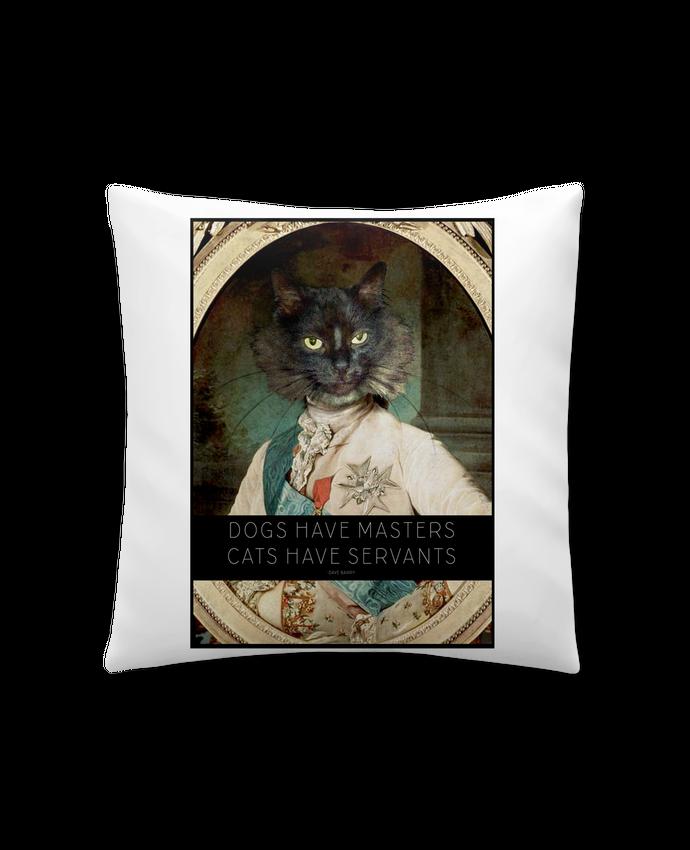 Coussin Synthétique Doux 41 x 41 cm King Cat par Tchernobayle