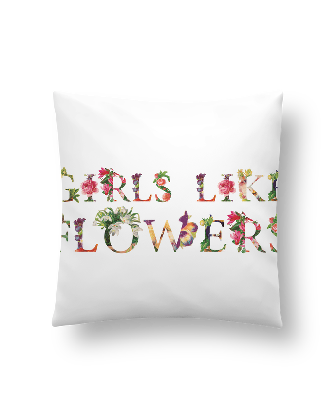 Coussin Synthétique Doux 41 x 41 cm Girls like flowers par tunetoo