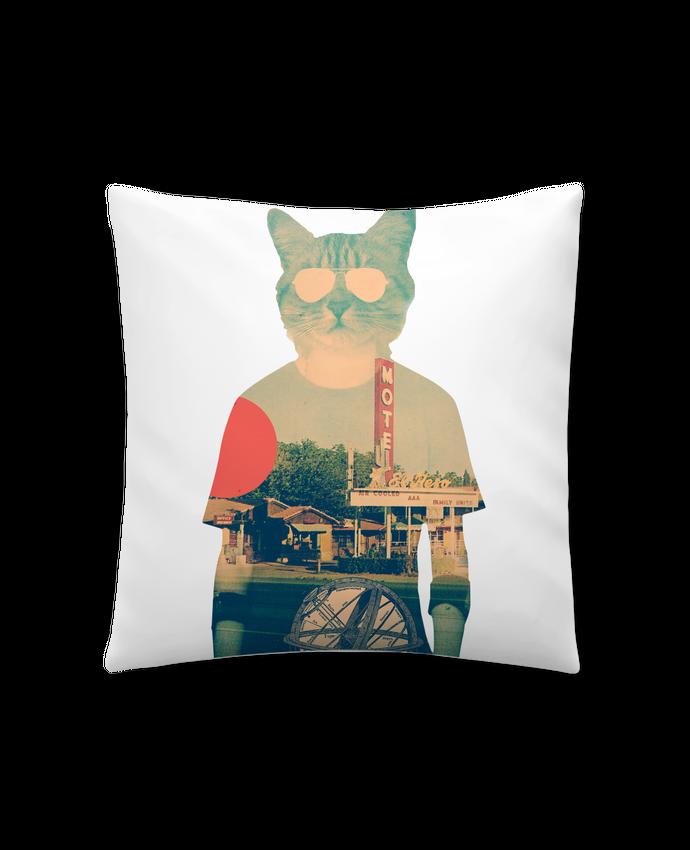 Coussin Synthétique Doux 41 x 41 cm Cool cat par ali_gulec