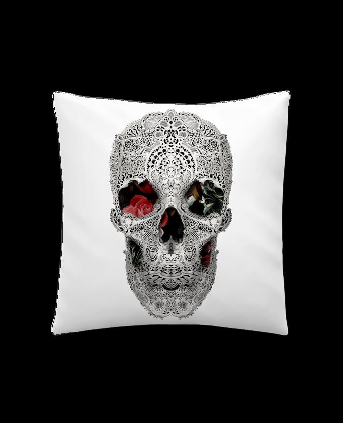 Coussin Synthétique Doux 41 x 41 cm Lace skull 2 light par ali_gulec