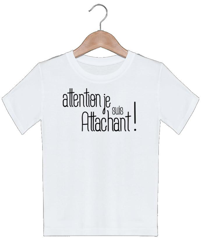 T-shirt garçon motif Attention je suis attachant ! tunetoo