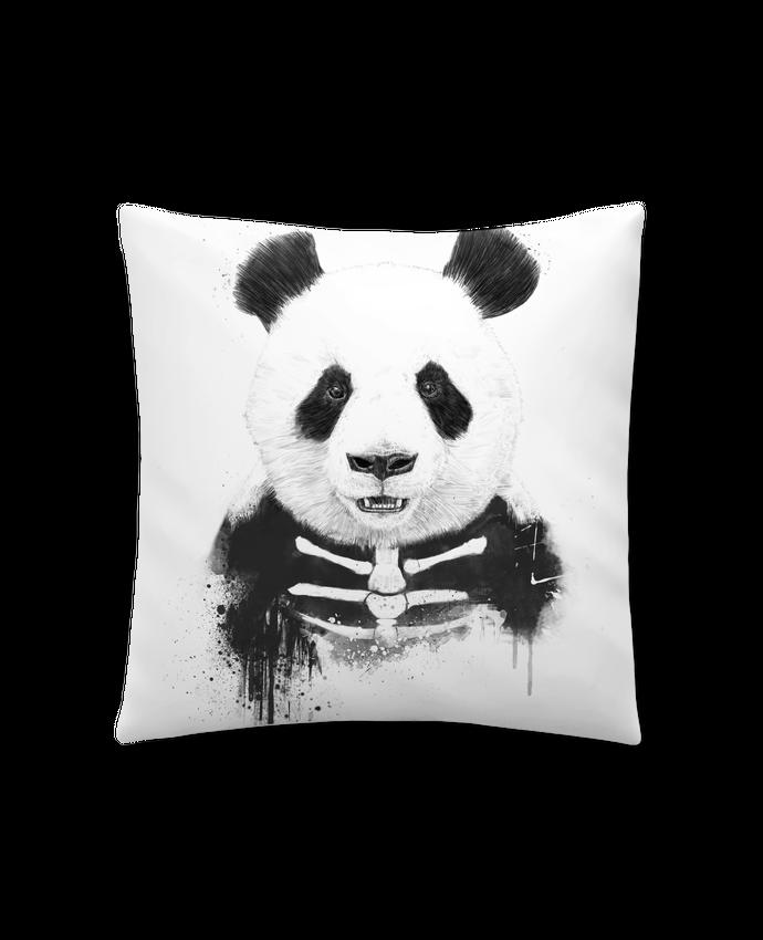 Coussin Synthétique Doux 41 x 41 cm Zombie Panda par Balàzs Solti