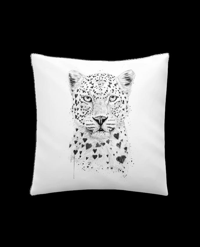 Coussin Synthétique Doux 41 x 41 cm lovely_leopard par Balàzs Solti