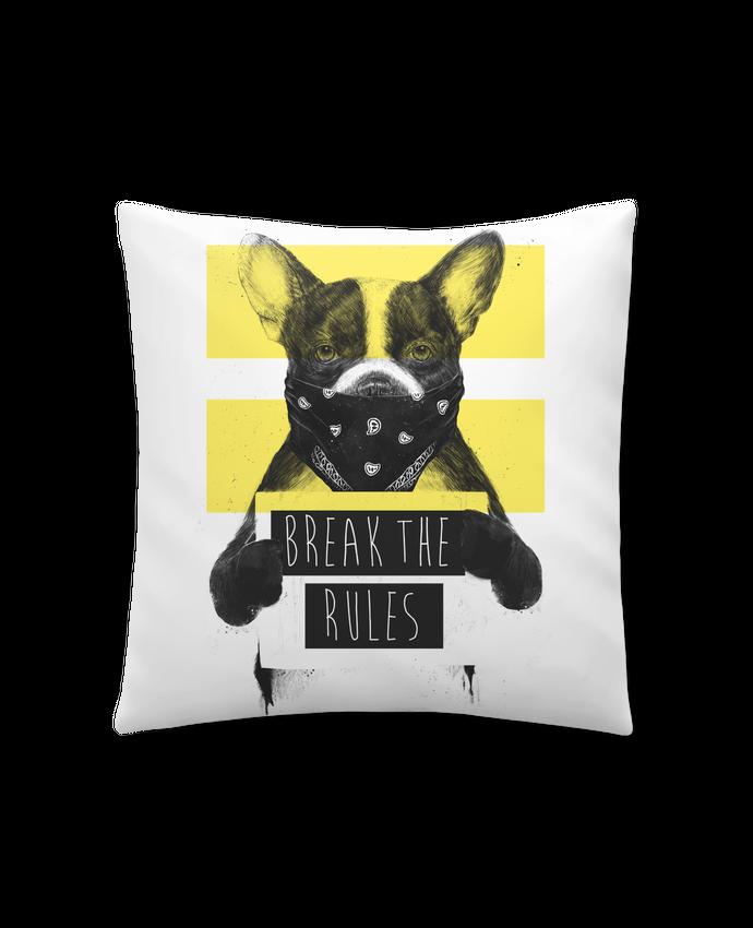 Coussin Synthétique Doux 41 x 41 cm rebel_dog_yellow par Balàzs Solti