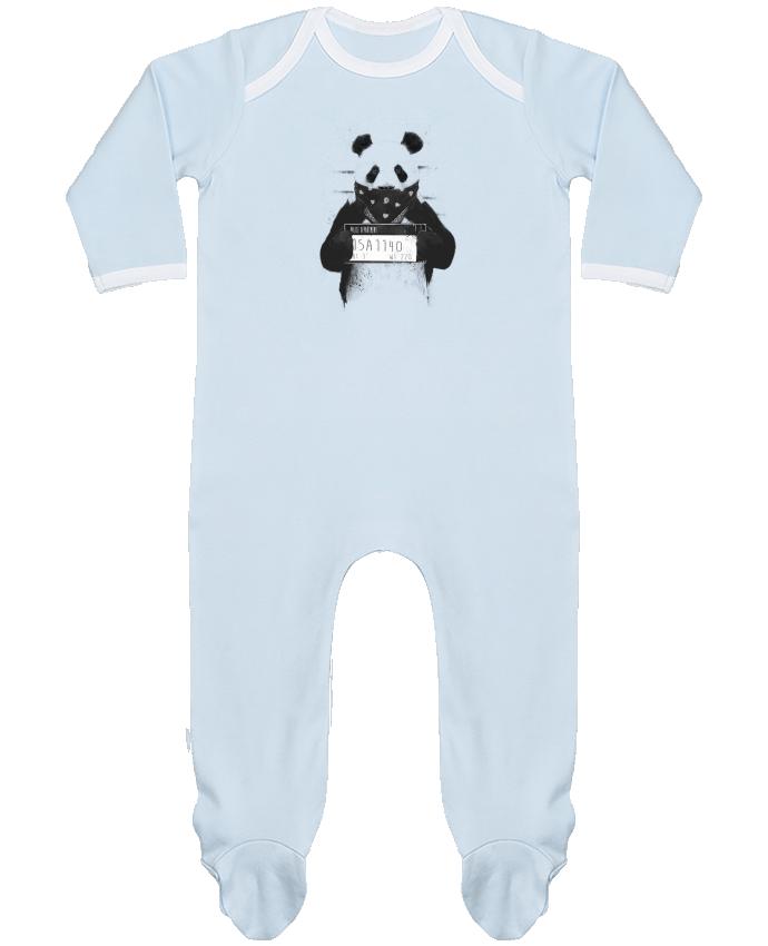Pyjama Bébé Manches Longues Contrasté Bad panda par Balàzs Solti