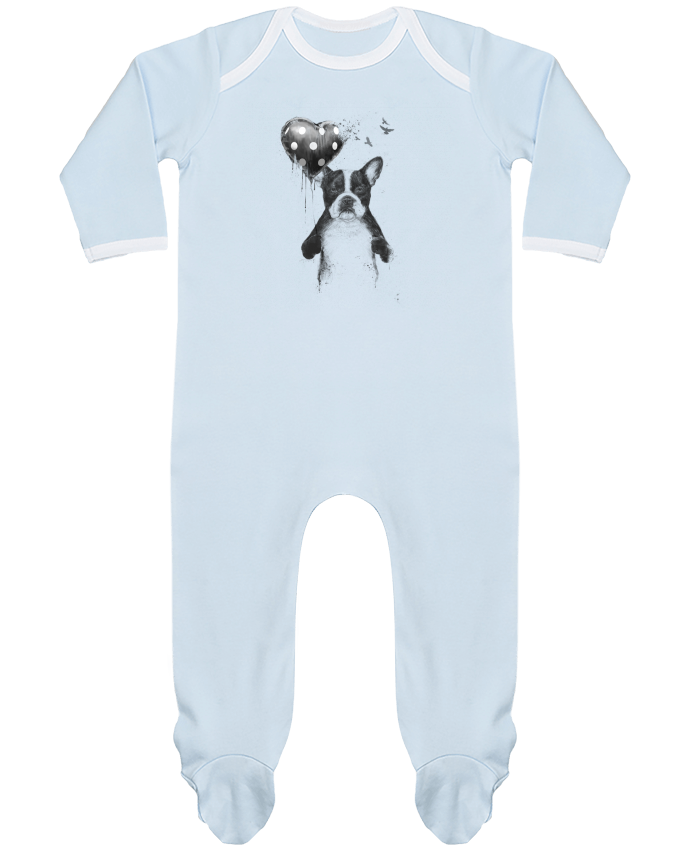 Pyjama Bébé Manches Longues Contrasté my_heart_goes_boom par Balàzs Solti
