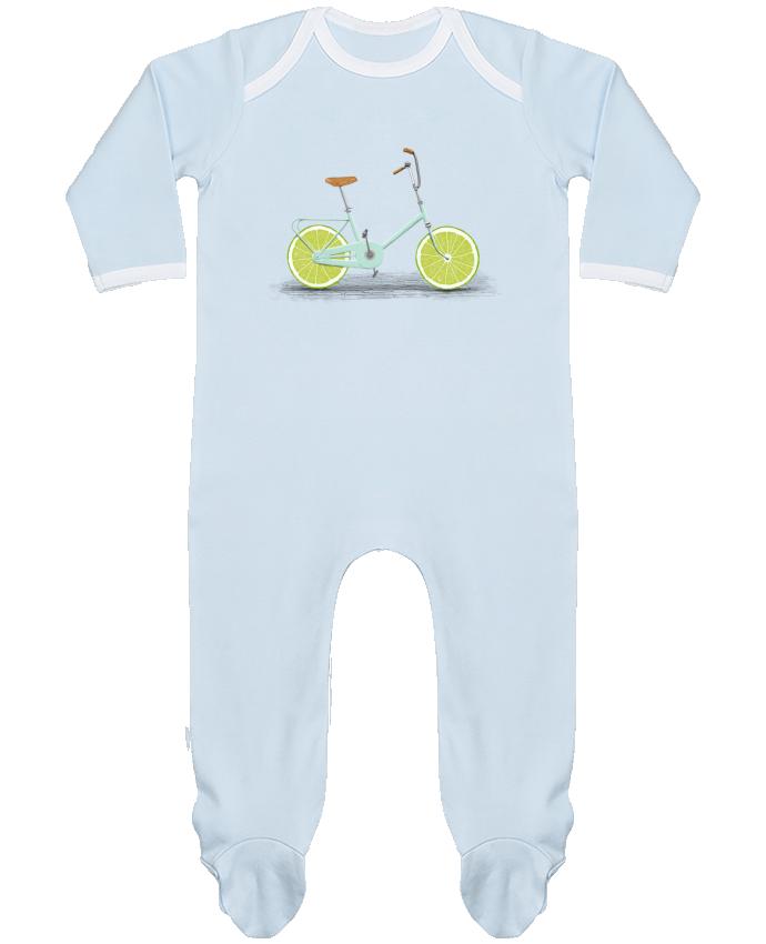 Pyjama Bébé Manches Longues Contrasté Acid par Florent Bodart