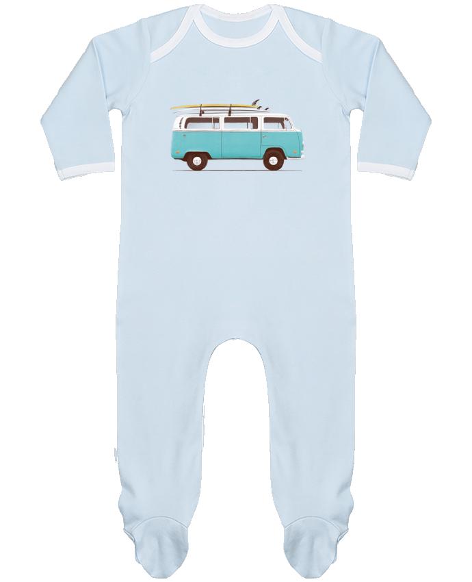 Pyjama Bébé Manches Longues Contrasté Blue van par Florent Bodart