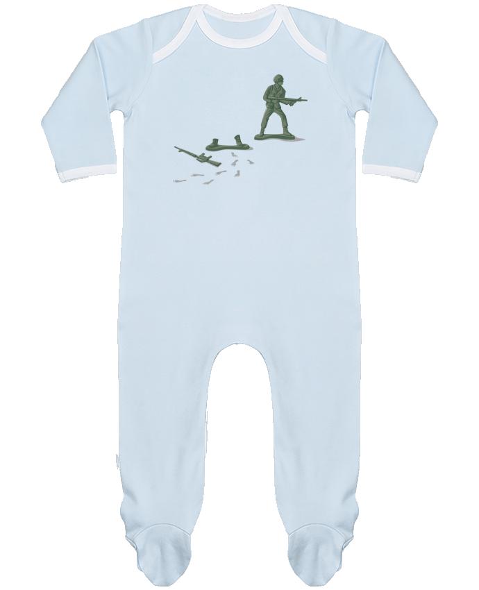 Pyjama Bébé Manches Longues Contrasté Deserter par flyingmouse365