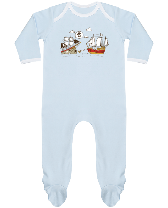 Pyjama Bébé Manches Longues Contrasté Pirate par flyingmouse365