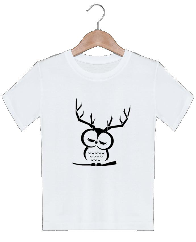T-shirt garçon motif Hibou cerf Ikare